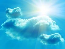 chmurnieje nieba słońce zdjęcia royalty free