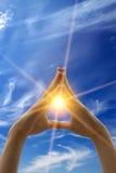 chmurnieje nieba słońce Fotografia Royalty Free