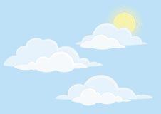 chmurnieje niebo ilustracji