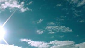 Chmurnieje niebo widoku czasu upływ zdjęcie wideo