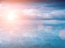 chmurnieje niebo zmierzch Obrazy Royalty Free