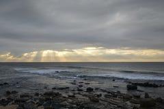 chmurnieje ocean burzowego Zdjęcia Royalty Free