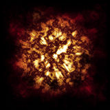 chmurnieje ogienia Obraz Stock