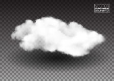 chmurnieje puszystego biel Realistyczni wektorowi projektów elementy dymny skutek na przejrzystym tle również zwrócić corel ilust Fotografia Stock