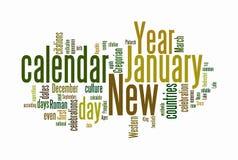 chmurnieje teksta nowego rok Zdjęcie Stock