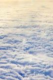 Chmurnieje widok z lotu ptaka tło Obraz Royalty Free