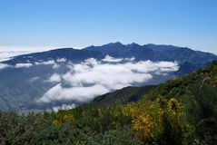 chmurnieje wyspy Madeira góry Obrazy Stock