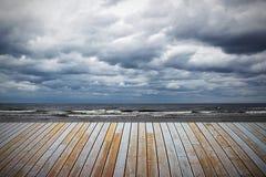 chmurny Baltic morze Zdjęcie Royalty Free