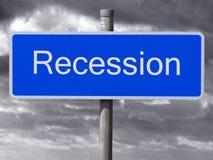 chmurny ciemny recesi znaka niebo Zdjęcia Royalty Free