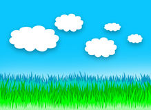 Chmurny dnia krajobraz ilustracji
