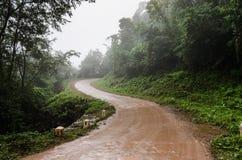 Chmurny drogowy Argentina calilegua jujuy zdjęcia stock