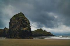 Chmurny dzień przy plażą Obrazy Royalty Free