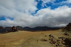Chmurny dzień w El Teide parku narodowym Zdjęcia Royalty Free