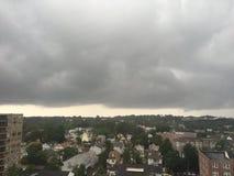 Chmurny dzień w Stamford, Connecticut fotografia stock