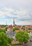 chmurny dzień stary Tallinn Fotografia Stock