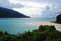 Chmurny dzień w raj wyspie Fotografia Stock