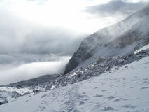Chmurny góry Chachani krajobraz Zdjęcie Royalty Free