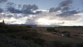 Chmurny halny dzień w Colorado Fotografia Royalty Free