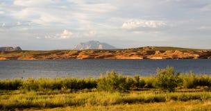 chmurny jeziora krajobrazu powell Obrazy Stock
