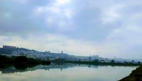 chmurny jezioro Zdjęcie Stock