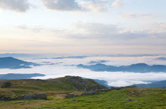 chmurny krajobrazowy halny lato Obrazy Stock