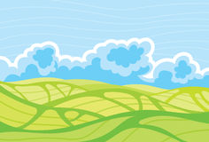 chmurny krajobrazowy niebo Zdjęcia Stock