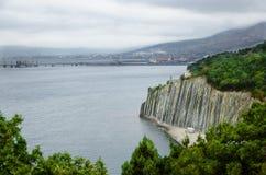 Chmurny krajobrazowy seacoast czerni morze Zdjęcia Stock
