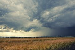 Chmurny lato krajobraz obrazy stock