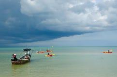 Chmurny morze Zdjęcie Royalty Free