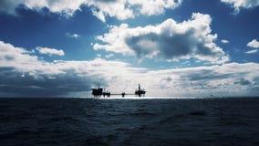 Chmurny na morzu obraz royalty free