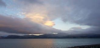 Chmurny nadmorski widok obrazy stock