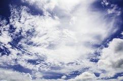 Chmurny niebieskie niebo Sri Lanka Zdjęcia Royalty Free