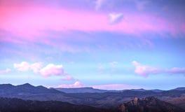 Chmurny niebo na Leonforte, Sicily Zdjęcie Stock