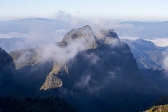 Chmurny niebo nad górami, (Doi Luang Chiang Dao, Chiang Mai, Tajlandia) Obrazy Stock