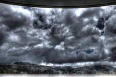 Chmurny niebo w Baguio, HDR - Fotografia Royalty Free