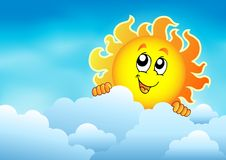 Chmurny niebo z czaić się słońce 2 Obrazy Stock