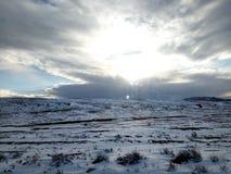 Chmurny śnieg Zdjęcie Royalty Free