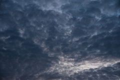 chmurny podeszczowy niebo Obraz Stock