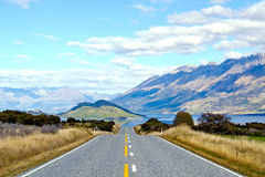 chmurny pusty drogowy niebo Zdjęcia Royalty Free