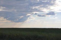 chmurny śródpolny niebo Zdjęcie Stock