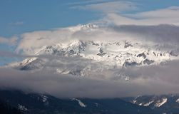 Chmurny ranek nad Haller Mauern od Admon, Austria obraz royalty free
