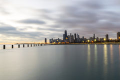 Chmurny ranek W Chicago Zdjęcia Stock