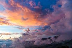 Chmurny w yty - północny Wietnam Fotografia Royalty Free