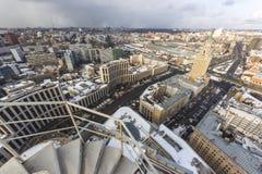 Chmurny wheather pejzaż miejski zdjęcie royalty free