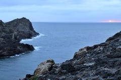 Chmurny wschód słońca w nakrętce De Creus Obraz Royalty Free
