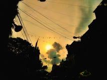 Chmury śmia się światło słoneczne obraz royalty free