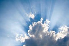 chmury świeci słońce Zdjęcie Stock