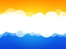 chmury abstrakcyjnych tło royalty ilustracja