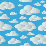 Chmury bezszwowy niebo Zdjęcie Stock