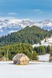 chmury caucasus kształtują obszar gór górskich shurovky ushba nieba Zdjęcia Royalty Free